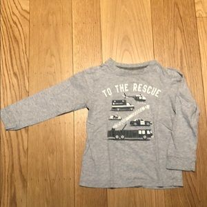 Carter's Long Sleeve Tshirt with Vehicle Design